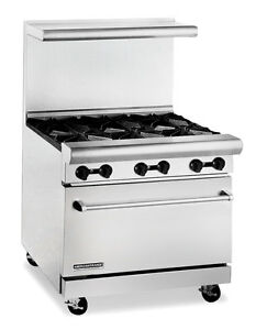 American Range Ar6 c 36 Hd Gas Restaurant Range W 6 Burners Convection Oven