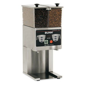Bunn 36400 0000 French Press Coffee Bean Grinder Two 3lb Hoppers