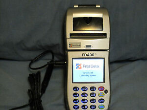 First Data Fd400 Ti Credit Card Machine With Touch Screen