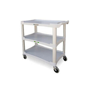 Lakeside 2501 36 wx18 1 2 dx35 h 3 Tier Bus Cart Light Grey