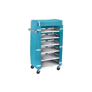 Lakeside 437 18 3 8 wx30 3 4 lx46 h Stainless Steel Tray Delivery Cart