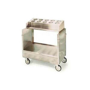 Lakeside 403 Stainless Steel Enclosed Style Tray Silver Cart