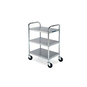 Lakeside 479 27 wx17 1 2 dx35 h Chrome Plated Utility Cart