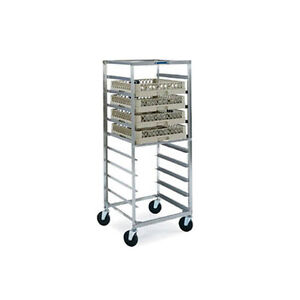 Lakeside 198 Stainless Steel Glass Cup Rack Transport Cart