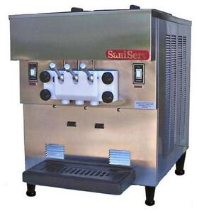 Saniserv 501 11 Qt Two Flavor Twist Soft Serve Ice Cream Yogurt Machine