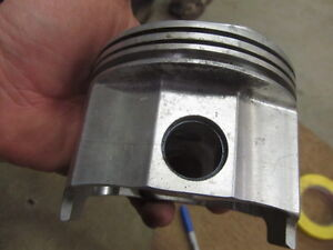 Small Block Chevy Forged Brc 43 Dome Gas Ported Piston 4 030 Bore 1 750 Ch 2