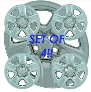 Fits 2006 12 Toyota Rav4 Rav 4 17 Four Chrome Wheel Skin Hubcap Hub Caps Covers