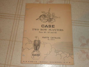 Case 40 41 42 Two Row Planters Parts Catalog Manual