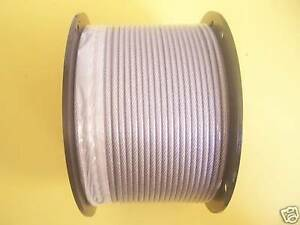 Vinyl Coated Wire Rope Cable 1 8 3 16 7x7 50 100 250 300 500 1000 Ft