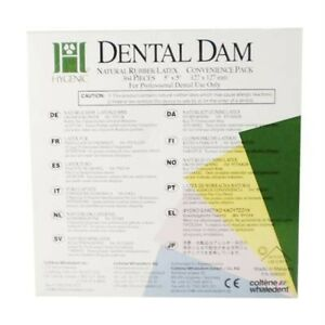 Hygenic 5 X 5 Medium Green Dental Dam Bulk Pak Of 364 Coltene whaledent