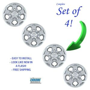New 2010 2011 2012 Ford Fusion 17 Silver Bolt on Hubcaps Wheelcover Set Of 4