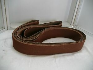 Sanding Belts Lot Of 6 Vsm 3 1 4 X 144 P240 369 Compact Grain aluminum Oxide