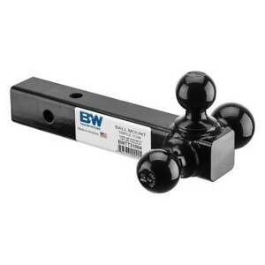 B W Hitches Triple Tow Tri Ball Mount For 2 Hitches
