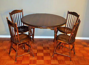 Lambert L Hitchcock Wood Dining Table With 4 Chairs Vintage American Furniture