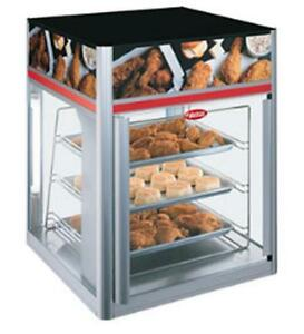 Hatco Fsd 1x 120 qs 1 Door Stationary Display Cabinet With 3 Tier Pan Rack
