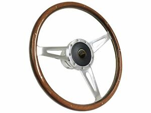 1965 1970 Ford Falcon S9 Classic Wood Steering Wheel Kit Falcon 3d Emblem