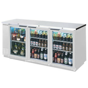 Beverage air 72in Sliding Glass Door Back bar Refrigerator W S s Finish