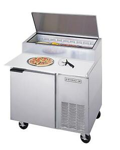 Beverage air Dp46 16 7 Cuft 46 One Section Refrigerated Pizza Prep Table