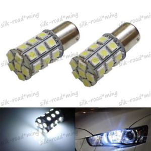 Super White 27 Smd Rv Camper Trailer Led 1156 1141 1003 Interior Light Bulbs X2