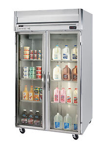 Beverage air 49 Cuft Horizon Glass 4 door Reach in Cooler W S s Interior