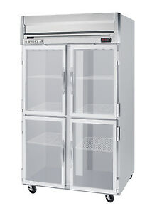 Beverage air 49 Cuft Horizon Series Glass Four Door Reach in Refrigerator