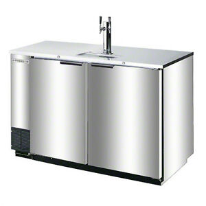 Beverage air Dd50hc 1 s 19 8cf Stainless Two Keg Direct Draw Draft Beer Cooler