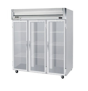 Beverage air Hr3 1g 74 Cuft Horizon Series Glass Door Reach in Refrigerator