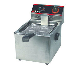 Winco Efs 16 16 Lb Electric Countertop Single Well Deep Fryer 1800 Watts