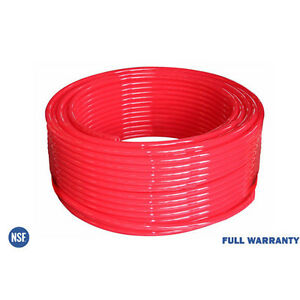 1 X 100ft Pex Tubing Heating And Plumbing Oxygen barrier Red