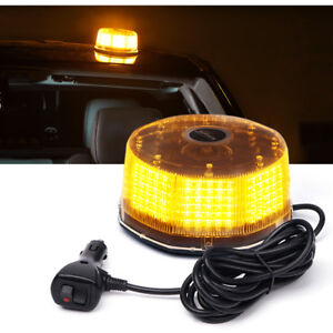 Xprite Amber yellow 240 Led Round Strobe Light Rotating Beacon High Intensity