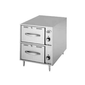 Wells Rwn 2 Narrow Model Freestanding Countertop Double Drawer Warmer