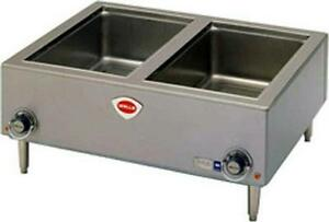 Wells Tmpt 1800 Watt Countertop Dual Well Bain Marie Food Warmer