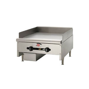 Wells Hdg 2430g qs 24 Quickship Countertop Manual Griddle W 3 4 Plate Nat