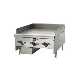 Wells Hdtg 3630g qs 36 Quickship Thermostatic Griddle W 3 4 Plate Nat