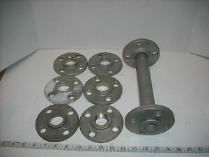 Lot Of 316 Stainless Steel 1 Slip on Flange And Pipe Assembly