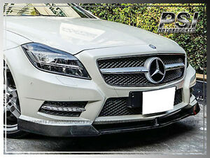 V Style Carbon Fiber Front Bumper Lip For 2012 Benz W218 Cls500 Cls550 W Amg