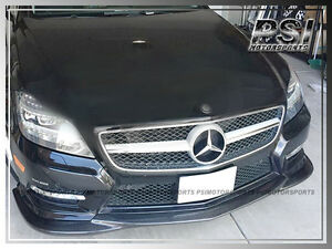 Gh Style Carbon Fiber Front Bumper Lip For 2012 Benz W218 Cls500 Cls550 W Amg