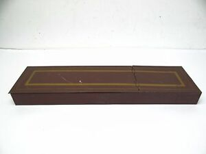 Vintage Used Red Gold Painted Remington Sherman Co Locker Safe Box Old