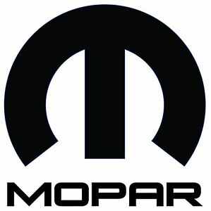 Satin Black Mopar Big M Decal 8 In Size Free Shipping