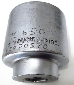3 1 8 Hand Socket Williams X 12100 1 Dr 12 Point 12100 Made In Usa