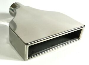 Exhaust Tip 7 75 X 2 25 Outlet 10 00 Long 2 25 Inlet Rolled Rectangle W225775