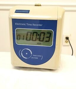 Time Clock Electronic Time Recorder Model 100di No 0604768
