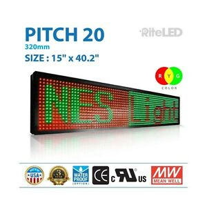 Led Sign 3 Color Rgy 15 X 40 programmable 3d Scroll Message Board