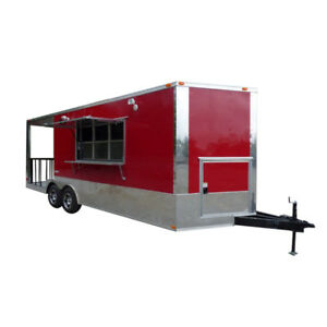 Concession Trailer 8 5 X 24 Victory Red Food Event Catering