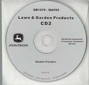 John Deere Db1479 Garden Tractors Compact Utility 15 Technical Manuals On Cd