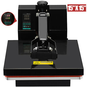 15 X 15 Digital Clamshell Heat Press Machine Transfer Sublimation T shirt