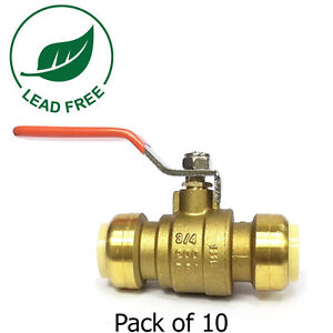 3 4 Sharkbite Style Push Fit Ball Valve Full Port Fittings Lead Free Brass 10