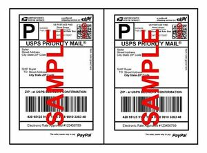 Self Adhesive Economy Thin Ebay Paypal Mailing Shipping Labels 8 5 X 5 5