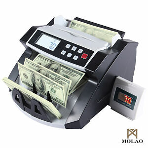 Money Bill Counter Machine Cash Counting Bank Counterfeit Detector Uv