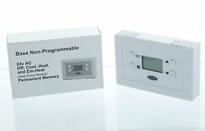 Carrier Base Series 24v Ac Off Cool Heat Em heat Non programmable Thermostat